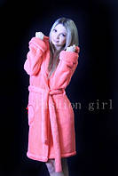 Махровый халат Розовый