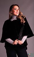 Женское черное  меховое  манто-шуба