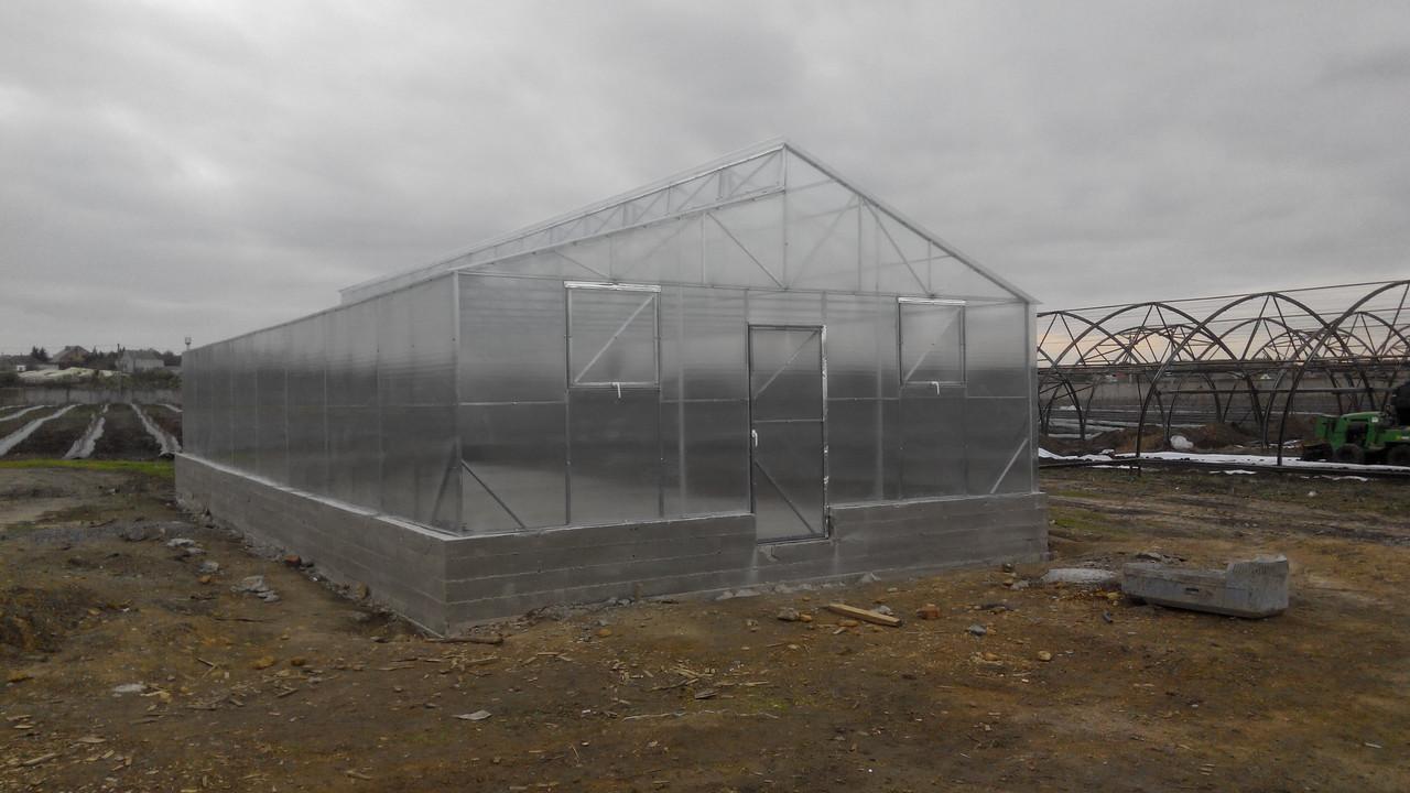 Теплицы Митлайдера 6х12 под поликарбонат стандарт 4 мм (ширина 6 метров)