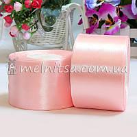 Атласная лента 5 см, №4 св.розовый, рулон 23 м
