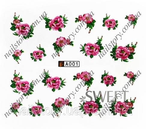 Водні наклейки для нігтів A005, фото 2