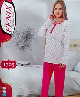 Женская пижама хлопковая с длинным рукавом