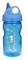 Бутылка для воды Nalgene прозрачная-синия на 350ml подводный мир