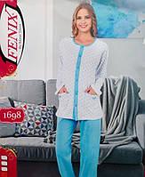 Женская пижама хлопковая на пуговицах