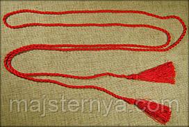 Пояс-шнурок шовковий, червоний
