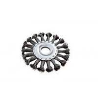 MASTERTOOL Щетка дисковая из плетённой проволоки (отверстие 22,2мм) 180 мм, Арт.: 19-9018