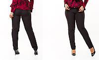 Женские черные  брюки на молнии