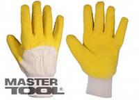 Mastertool Перчатки стекольщика, х/б ткань с латексным ребристым покрытием(желтые), Арт.: 83-0601-В