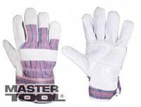 Mastertool Перчатки комбинированные из замши и ткани, сшивная ладонь, Арт.: 83-0701
