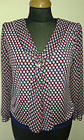 """Женская блуза с воланом и шифоновым рукавом мод """" Спираль """""""