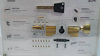 Цилиндровый механизм ШЕРЛОК НК 70 мм (35*35) BR желтый