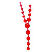 Анальные цепочка Triple Anal Pleasure Beads красная