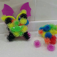 Подарок на Новый год - конструктор - липучка Пушистый шарик (Банчемс 400 предметов)