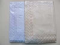 Скатерть с вышивкой и ажурной окантовкой 150*220 см