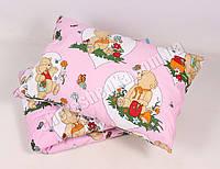 Детское одеяло с подушкой хлопок/шерсть 001