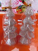 Свечи декоративные Елка размер 10*4,5 серебро