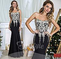 Вечернее платье с вышивкой в расцветках 900 (907)