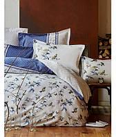Комплект постельного белья евро  KARACA HOME 2017 сатин DELMARE MAVI
