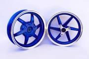 Диски Honda Dio 2.15*10 алюм RUIMA синие