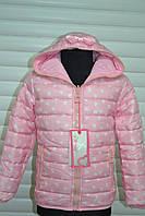 Весенняя двусторонняя куртка- для девочек .Размеры 98-128 см.Фирма GRACE.Венгрия