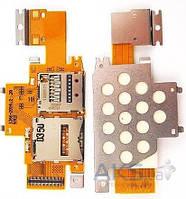 Шлейф для Sony SGP311, SGP312, SGP321 Xperia Tablet Z с разъемом SIM-карты и карты памяти Original