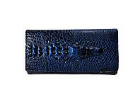 Женский лакированный кошелек Dragon цвет синий