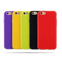 Силиконовый Чехол Накладка на iPhone SE/5/5s Яркий Однотонный Бампер