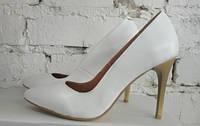 Туфли лодочки из натуральной кожи
