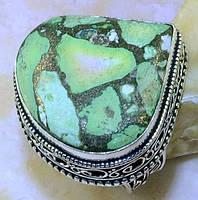 Интеснейший перстень с бирюзой в стиле винтаж. Серебро 925