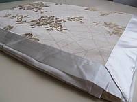 Элегантная скатерть с атласной лентой по краю 150*220 см