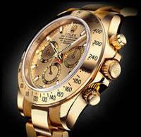 Классические стильные  механические   наручные часы мужские Rolex Daytona золото-черный.