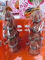 Свечи декоративные Елка размер 10*4,5 бронза