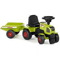 Трактор каталка с Прицепом Claas Axos Falk зеленый