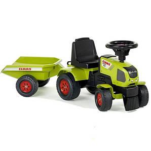 Трактор каталка с Прицепом Claas Axos Falk (1012B) зеленый