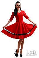 """Платье - клеш """"MIU MIU"""" красный"""