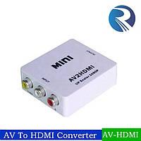Конвертер с HDMI на AV 3RCA 1080p, конвертер переходник hdmi av