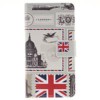 Чехол книжка TPU Wallet Printing для Huawei P9 Lite British Feature