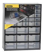 Ящик инструментальный-органайзер пластмассовый 39-секционный вертикальный (36.5 x 16 x 44.5см)  STAN