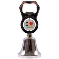 Сувенир - колокольчик с открывалкой (Я люблю Украину) UDB-1