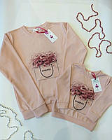 Family Look парные утепленные свитшоты комплект мама+дочка