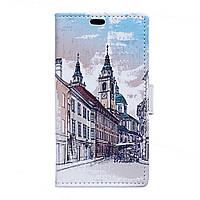 Чехол книжка TPU Wallet Printing для Huawei Mate 9 European Architecture