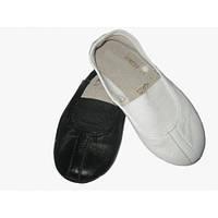 Танцевальные кожаные чешки белые 26-30 размер