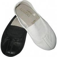 Танцевальные кожаные чешки белые 31-35 размер