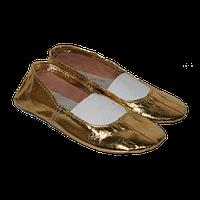 Танцевальные кожаные чешки золото 31-35 размер