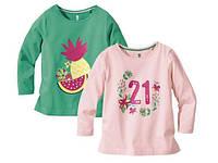 Реглан для девочки зеленый ананас и розовая цыфра Lupilu р.110/116