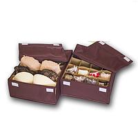 Набор органайзеров с крышками для нижнего белья 2 шт ORGANIZE (амаретто)