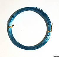 Проволока в мотках голубая 1 мм.