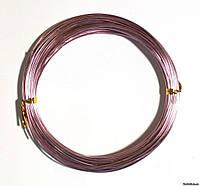 Проволока в мотках светло-розовая 1 мм.