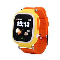 Детские часы Смарт часы Q100 c GPS трекером Оранжевые