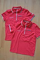 Мужская футболка Audi Sport Men's Polo Shirt Red (размер M)